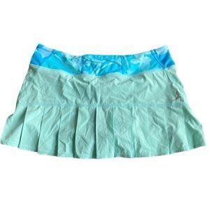 Lululemon run speed skirt aqua blue Seawheeze
